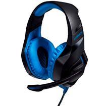 Fone de Ouvido com Microfone Warrior Straton Multilaser PH244 Headset Gamer Conexão USB com LED Azul -