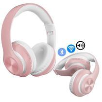 Fone De Ouvido Dobrável Bluetooth 5.0  P68 Rosa - Concise Fashion Style