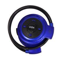Fone de ouvido esportivo bluetooth oex spin hs308 - azul -