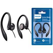 Fone de Ouvido Esportivo com Microfone SHS-3305BK/10 Intra-Auricular Preto  Philips -