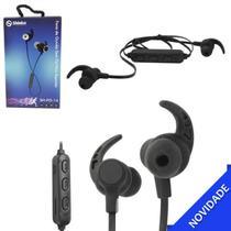 Fone de Ouvido Esportivo Intra-Auricular Bluetooth com Microfone e MicroSD Preto Shinka SH-FO-14 -