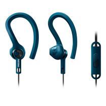 Fone de ouvido esportivo intra auricular c/ microfone azul - Philips