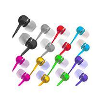 Fone de ouvido estéreo tipo earphone com isolamento acústico - Coby