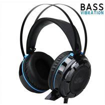 Fone De Ouvido Gamer 7.1 Led Com Fio Bass Vibration - Kp-417 azul - Knup
