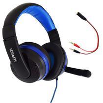 Fone de Ouvido Gamer Celular Headset P2 Kaidi KD-761 Over Ear - AZUL -