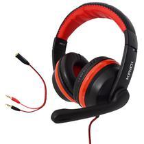 Fone de Ouvido Gamer Celular Headset P2 Kaidi KD-761 Over Ear - VERMELHO -