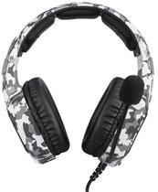 Fone de Ouvido Gamer Headset Onikuma K8 Camuflado Branco Rgb -