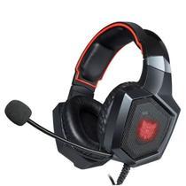 Fone de Ouvido Gamer Headset Onikuma K8 Rgb Vermelho Com Led - Havit