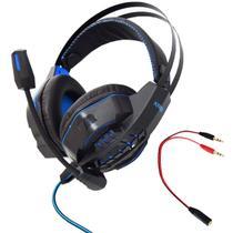 Fone de Ouvido Gamer Headset P2 Kaidi KD-763 Over Ear - AZUL -