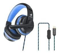 Fone De Ouvido Gamer Para Celular E Pc Tipo C Com Microfone GT-U200 Azul Golden - Golden Ultra