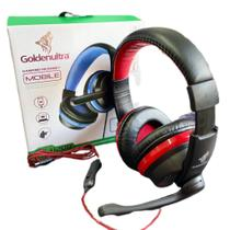 Fone De Ouvido Gamer Para Celular E Pc Tipo C Com Microfone GT-U200 Vermelho Golden - Golden Ultra