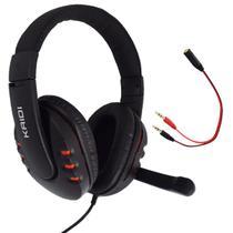 Fone de Ouvido Gamer Pc USB Headset P2 Kaidi KD-762 Over Ear  - VERMELHO -