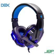 Fone De Ouvido Gamer Usb E P2 C/ Microfone E Led Dex - Df-81 -