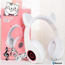 Fone De Ouvido Gatinho Bluetooth 5.0 Dobravel Branco - CONCISE FASHION STYLE