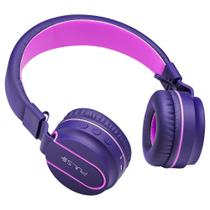 Fone de Ouvido Headphone Bluetooth com microfone no cabo Pulse PH217 Rosa/Roxo - Pulse sound