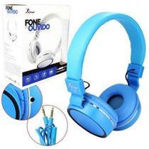 Fone de ouvido Headphone Com Microfone Premium Kp-421 Azul - Knup