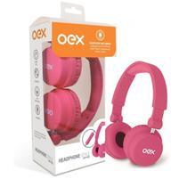 Fone de ouvido headphone com microfone style oex rosa hp103 -