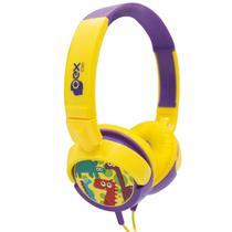 Fone De Ouvido Headphone Dino Infantil OEX HP300 - Lcs com de presentes