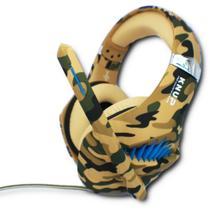 Fone de Ouvido Headphone Headset Gamer Microfone e Adaptador - Kp-Ga01