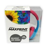 Fone de Ouvido Headphone Maxprint Life Series - Azul/Rosa - 601213-0 -
