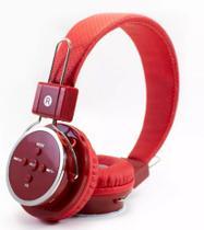 Fone De Ouvido Headphone Sem Fio Bluetooth Micro Sd Fm B-05 Vermelho - Importação