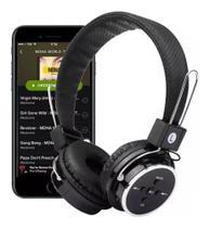 Fone De Ouvido Headphone Sem Fio Bluetooth Micro Sd Radio Fm B-05 - Preto - Rts