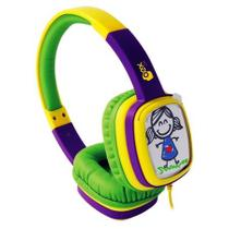 Fone De Ouvido Headphone Toon Roxo/Verde Infantil Oex HP302* - Csl Importadora Ltda