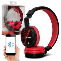 Fone de Ouvido Headphone Wireless Shutt Wave Sem Fio Bluetooth P2 SD Rádio FM MP3 Vermelho -