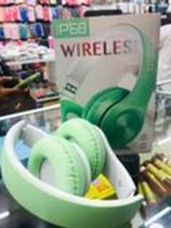 Fone De Ouvido Headset Bluetooth P68 Wireless VERDE - Mcmc