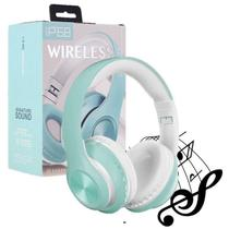 Fone De Ouvido Headset Dobravel Bluetooth 5.0 Azul - Concise Fashion Style