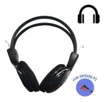 Fone De Ouvido Headset Estéreo Microfone Lapela Entrada P2 - Maxmax