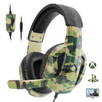 Fone De Ouvido Headset Gamer Camuflado Sez-881 Pro - Gaming