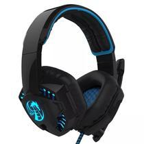 Fone De Ouvido Headset Gamer Dragon Cabo Nylon P2 Led Azul - Feasso