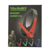Fone de Ouvido Headset Gamer F-6 -Tecdrive Color - Tec Drive