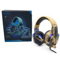 Fone de Ouvido Headset Gamer Komc G312 Camuflado - Concise Fashion Style