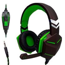 Fone De Ouvido Headset Gamer Kp-433 - Verde - Sef Eletro