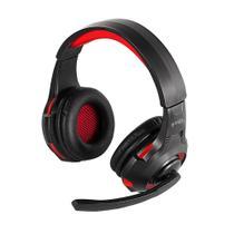 Fone de Ouvido Headset Gamer LED P2 USB Vermelho 468 Bright -