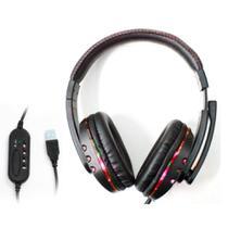 Fone De Ouvido Headset Gamer Pc Ps4 Ps3 Notebook Knup Kp-359 - Preto E Vermelho -