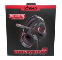 Fone de ouvido headset gamer pro p2 com microfone e led usb - Xtrad -