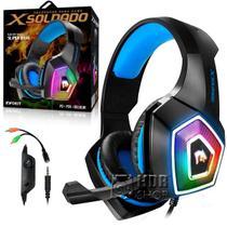Fone de Ouvido Headset Gamer Super Bass Led RGB Para PC, PS-4 e Celular GH-x2000 - Infokit