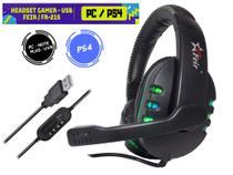Fone De Ouvido Headset Gamer Usb com Luz Led para PC, PS4, Notebook - Verde - Feir / verde