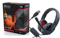 Fone De Ouvido Headset Gamer USB p/ Pc Ps4 Ps3 Notebook Bq-9700 - Preto C - Boas