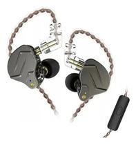 Fone De Ouvido In Ear Dual Driver KZ ZNS Pro Cinza -