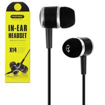Fone De Ouvido In-ear Headset X14 Immersive Music Preto - Nafumi