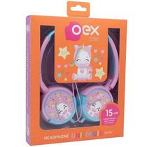 Fone de Ouvido Infantil Fones Giratorios Unicornio OEX KIDS HP304 -