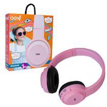 Fone de Ouvido Infantil OEX POP HS314, Bluetooth (Versão 5.0), Rosa -