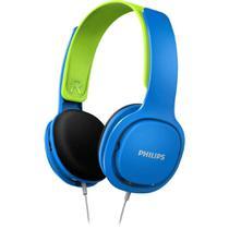 Fone de Ouvido Infantil Philips SHK2000 Azul com Limitador de Volume 85dB para Criança SHK2000BL/00 -