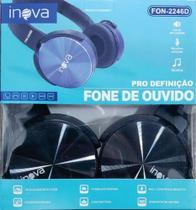 fone de ouvido  Inova Fon-2246D preto -