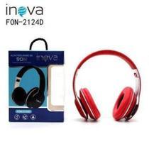 Fone De Ouvido INOVA  Stéreo Sem Fio 2124D Bluetooth,Headphone -