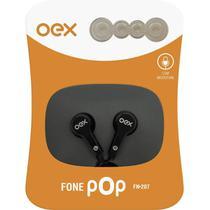 Fone de ouvido intra auricular preto pop oex - Newex
